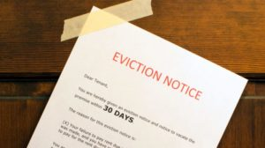 evicting someone rental property