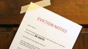 evicting someone rental property