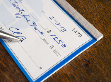 How to write a check, writing a check, how to write a check with cents